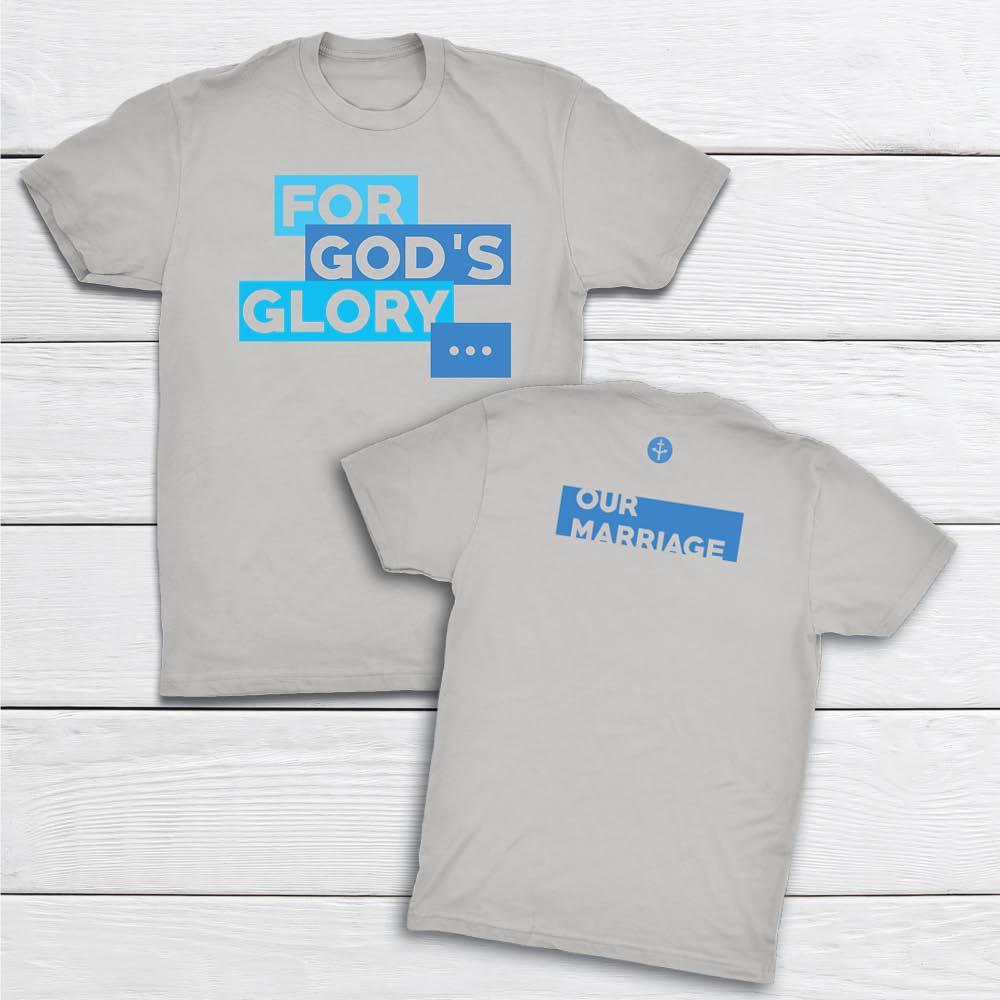 ForGodsGlory-OurMarriage- LTGRAY-tshirt