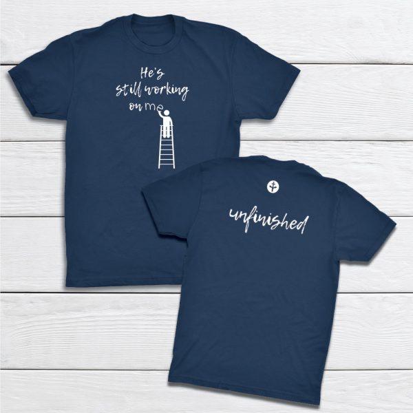 Working-Unfinished-IndigoBlue-tshirt