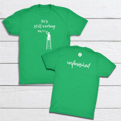 Working-Unfinished-KellyGreen-tshirt