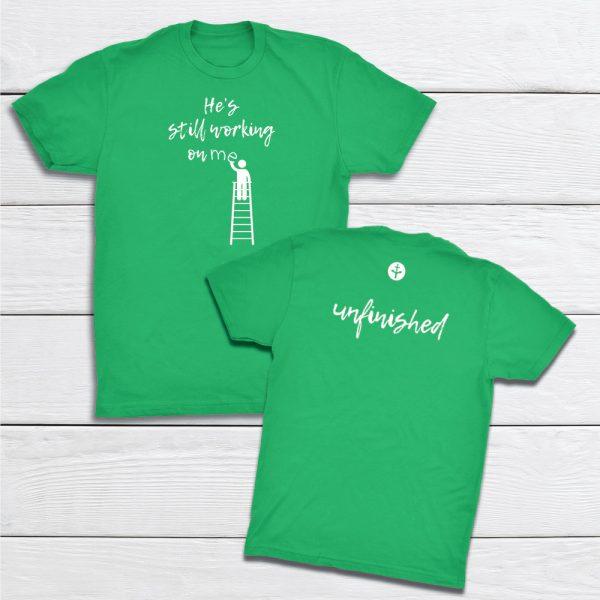 Working-Unfinished-KellyGreen-tshirt