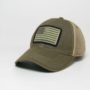 American Flag Hat – Olive