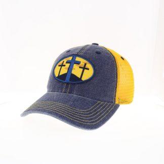3 Cross Hat – Yellow-Navy
